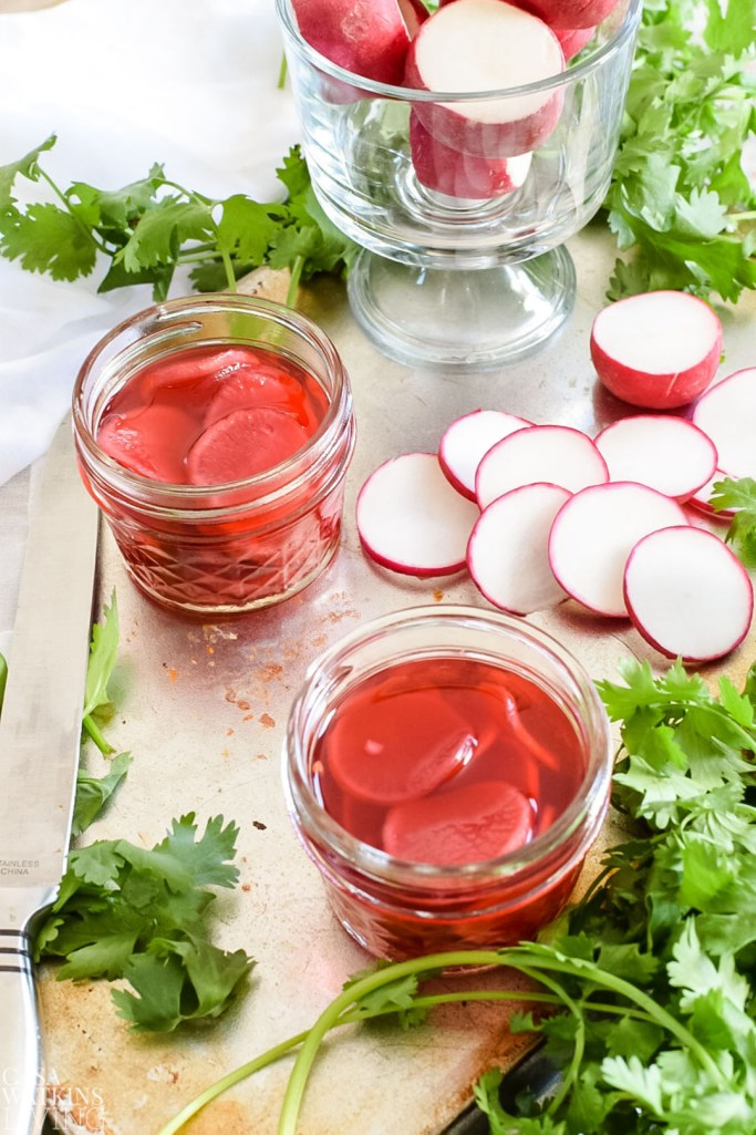 how to make quick pickled radish with red wine vinegar