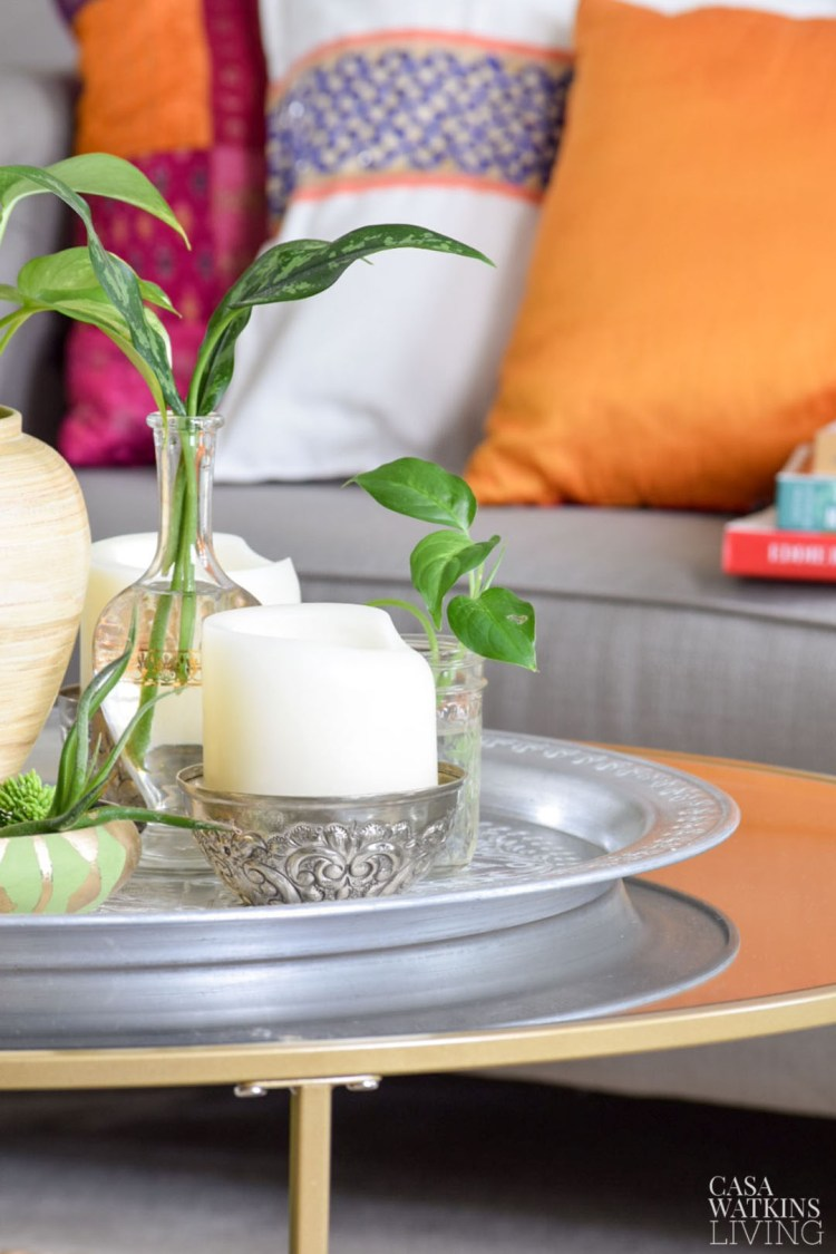 global chic coffee table decor for summer