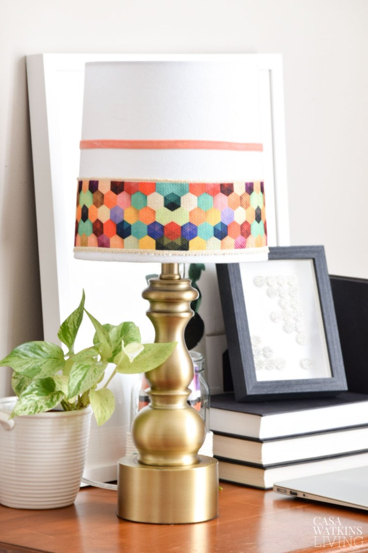 diy boho lamp makeover
