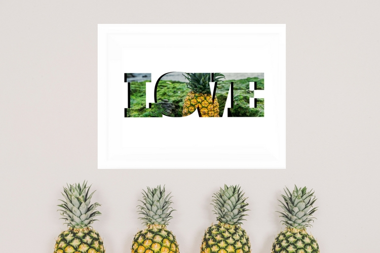 graphic about Free Printable Pineapple referred to as No cost Pineapple Wall Artwork Printable - Casa Watkins Dwelling
