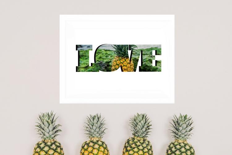 graphic relating to Free Printable Pineapple named Totally free Pineapple Wall Artwork Printable - Casa Watkins Residing