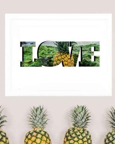 Free Pineapple Wall Art Printable
