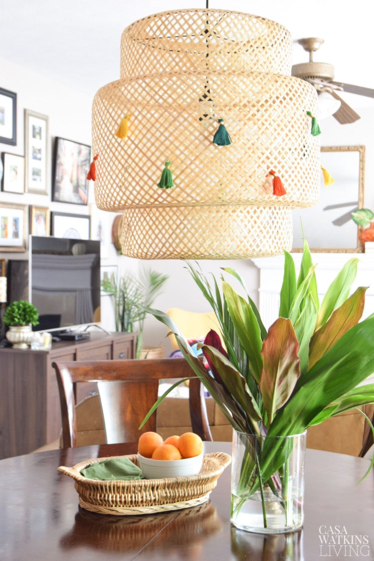 diy ikea lamp makeover ideas with tassel
