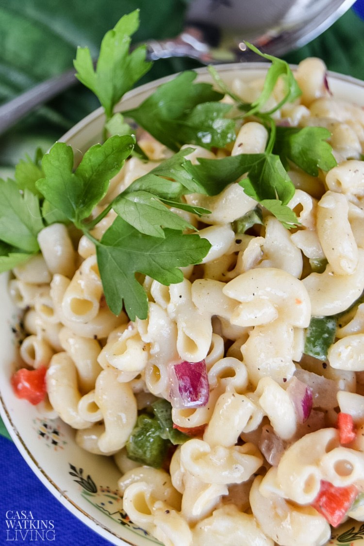 simple pasta salad with olive oil