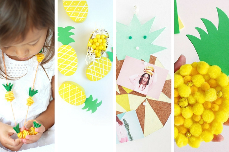 17 DIY Pineapple Crafts for Kids and Teens