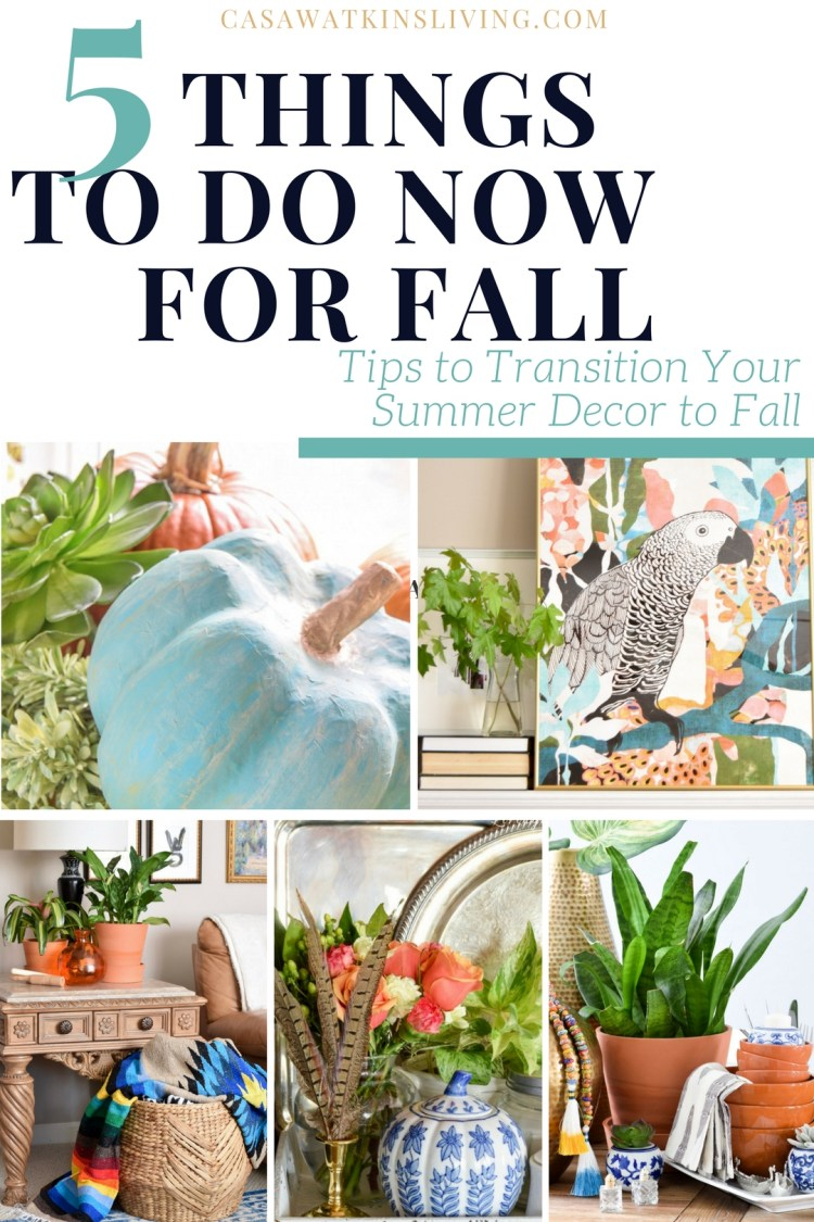 summer to fall decor tips and ideas