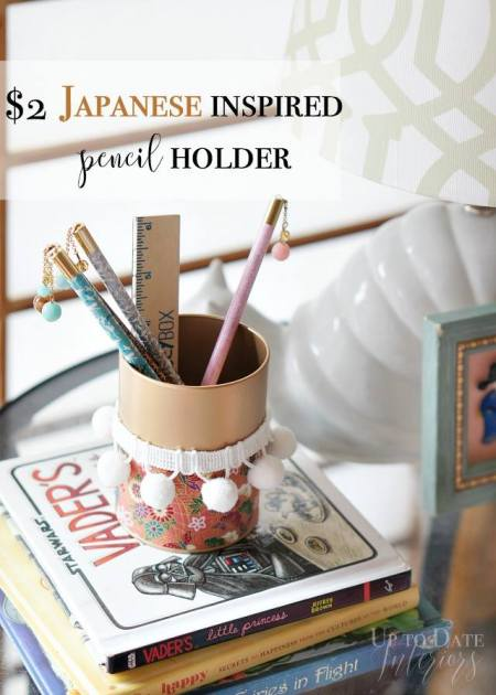 Japanese inspired pencil holder