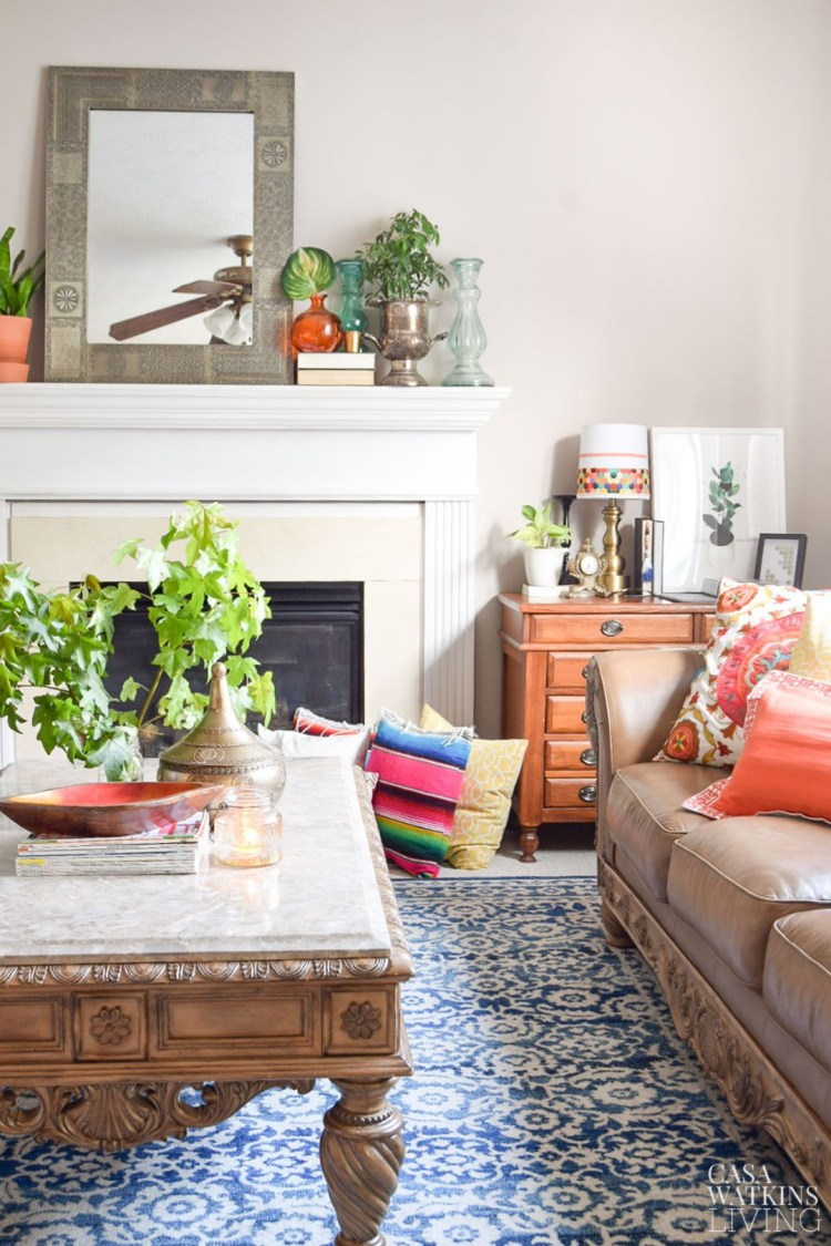 colorful global eclectic fall decor
