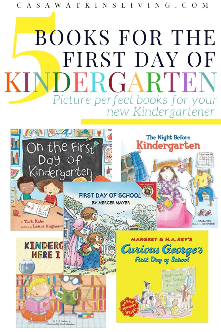 great books for the first day of kindergarten