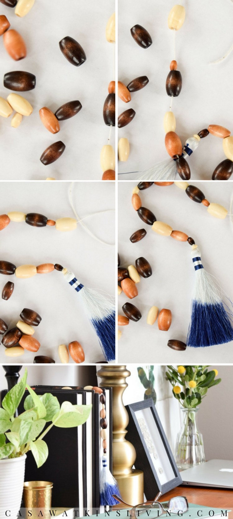 diy beaded tassel bookmark