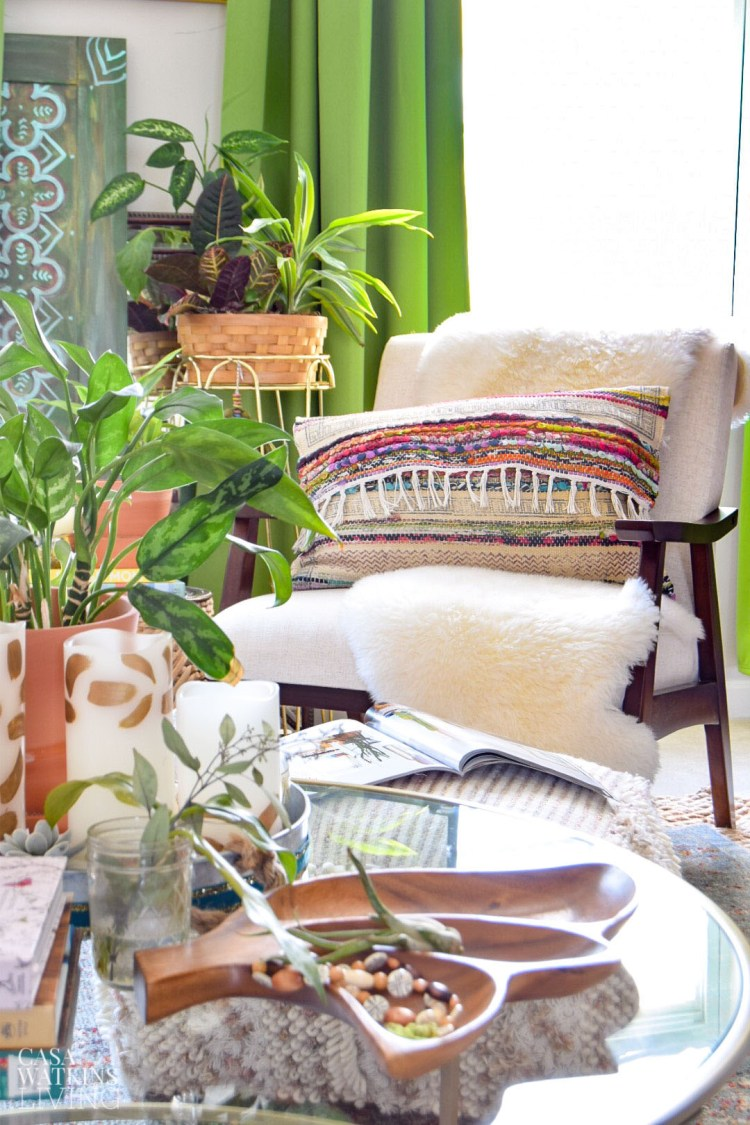 diy global boho style pillow using rug! get the boho style look for much less!