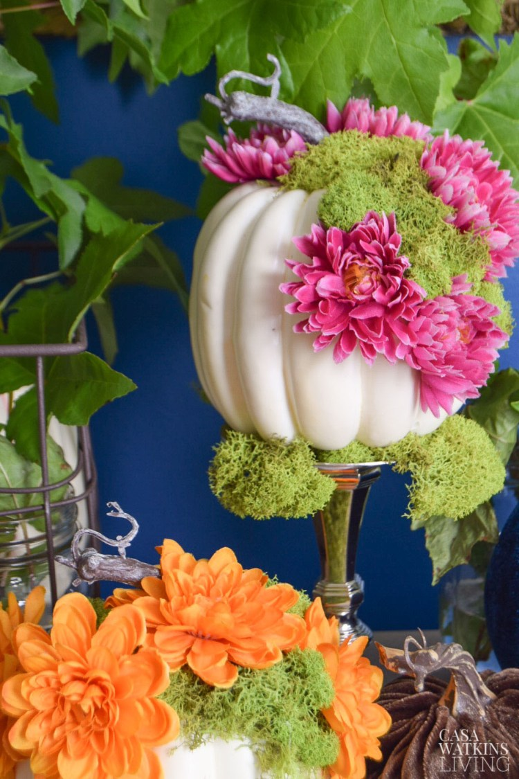 diy mossy floral pumpkins video tutorial!
