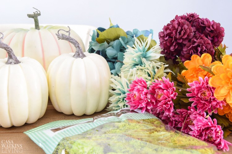 how to make diy mossy floral pumpkins with video!