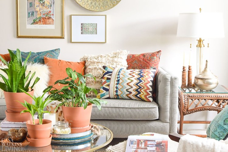 decorating with boho eclectic style in living room