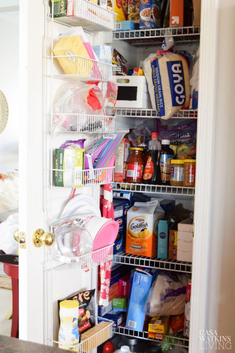 small kitchen pantry organization