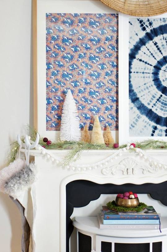 Global style Christmas mantel decor ideas