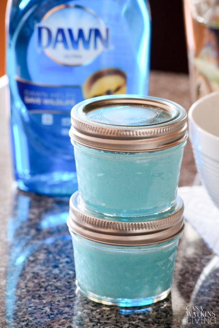 diy sugar soap scrub with Dawn soap