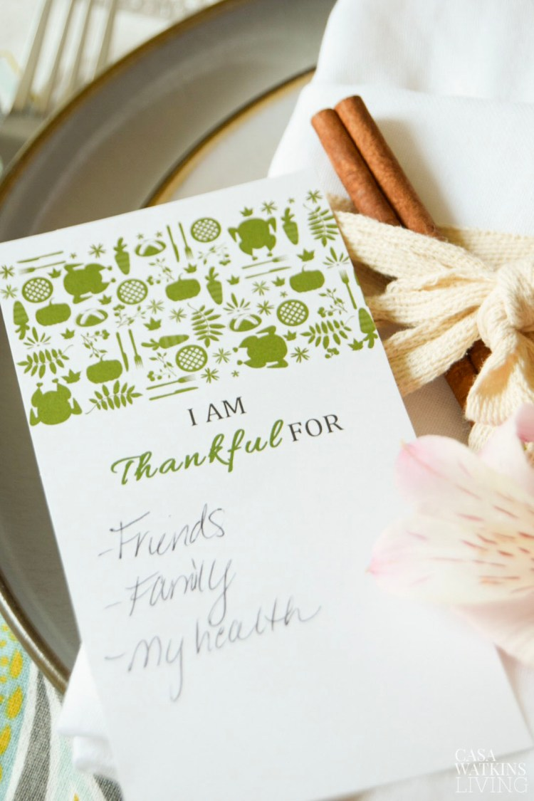 printable I am Thankful cards in Otomi style! 4 more color available