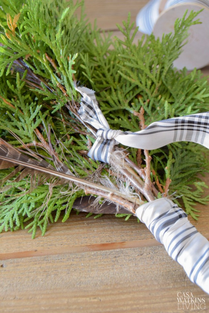 DIY simple Scandinavian evergreen wreath