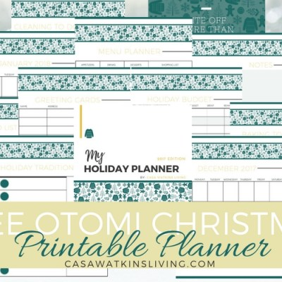 Free Printable Holiday Planner Otomi Theme