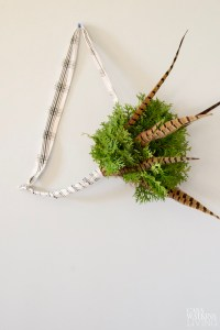 DIY simple Scandinavian evergreen wreath