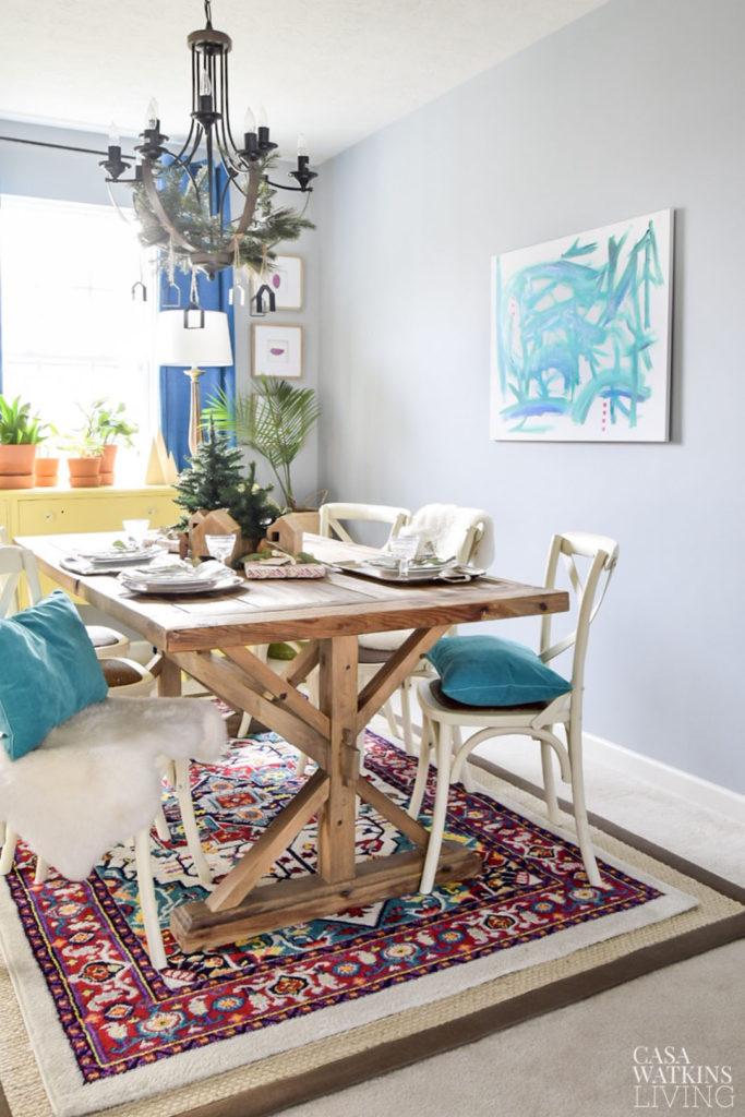 Global Bohemian Winter Dining Room Casa Watkins Living