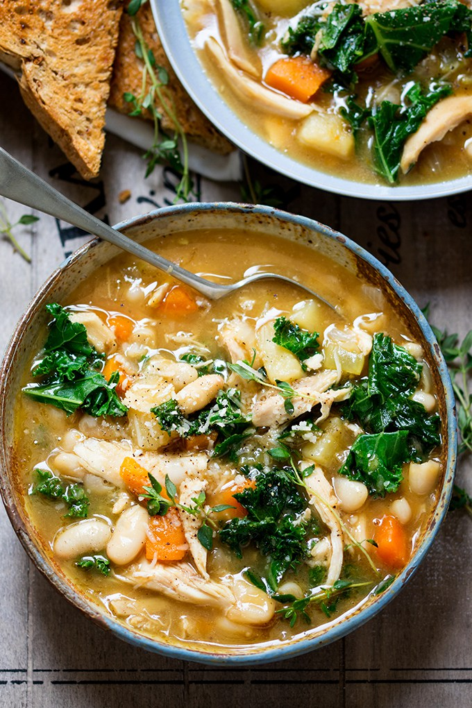 Tuscan style chicken soup - Kitchen Sanctuary