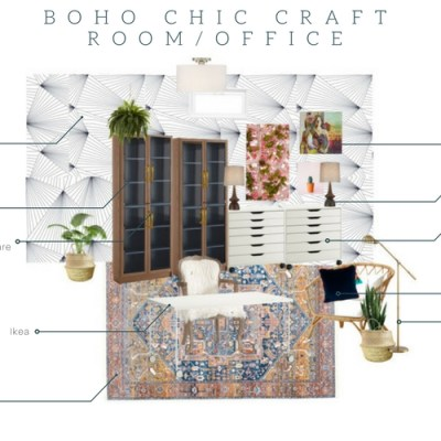 Basement Boho Chic Craft Room Update…..NYNR Challenge Week 4