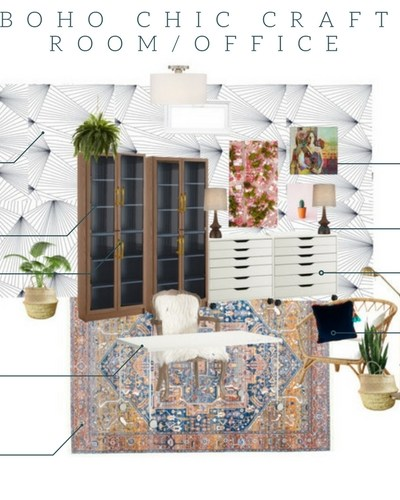 Basement Boho Chic Craft Room Update…..NYNR Challenge Week 4