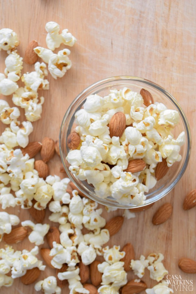 popcorn with almonds snack