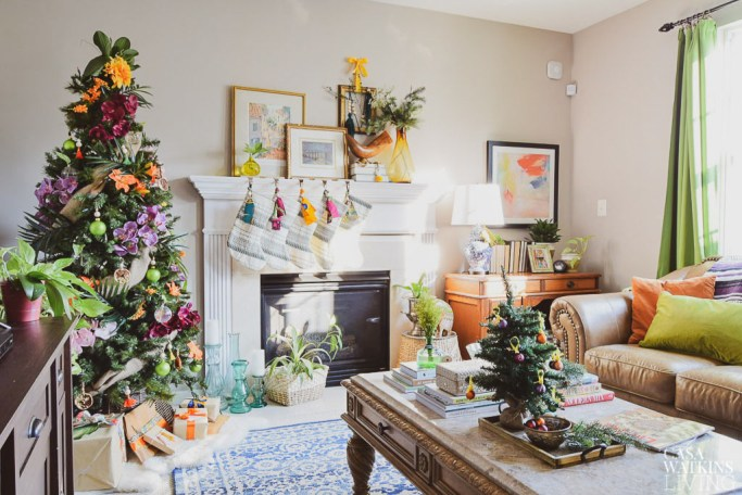 Global Bohemian Holiday Decor Ideas For The Living Room ...