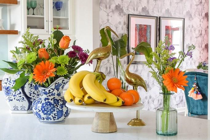 Bohemian Kitchen Island Spring Decor - Casa Watkins Living
