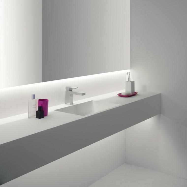 baño decoracion led lavabo moderno