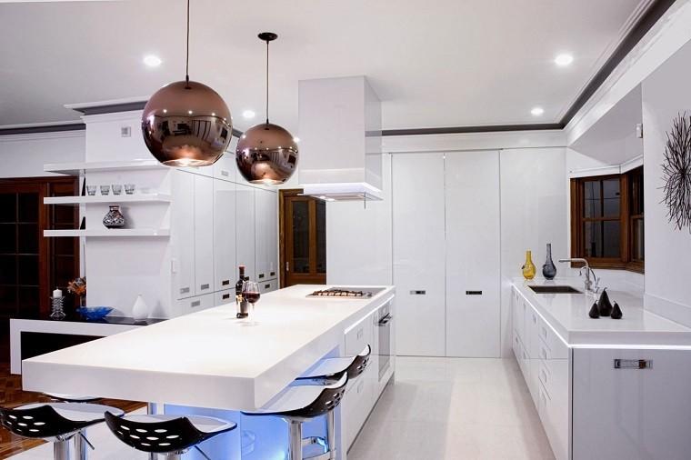 bolas lamparas cocina moderna dorado