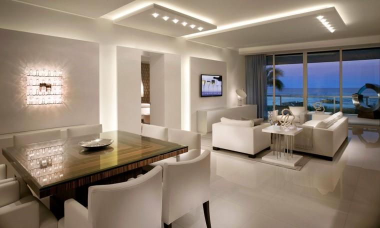 casa luces led mar vista estantes
