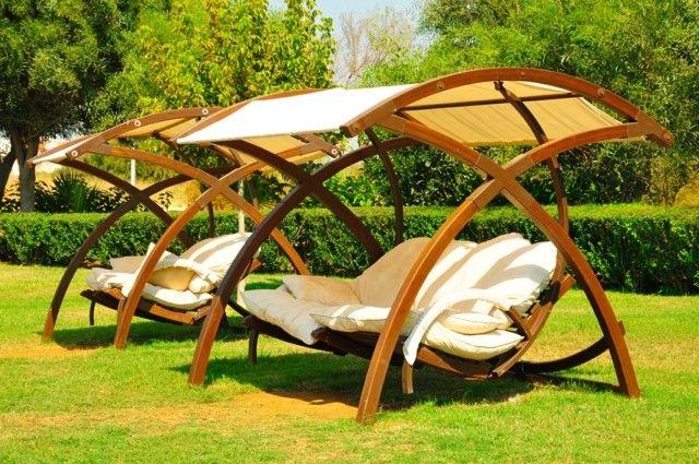 muebles e ideas de accesorios modernos para el jardin