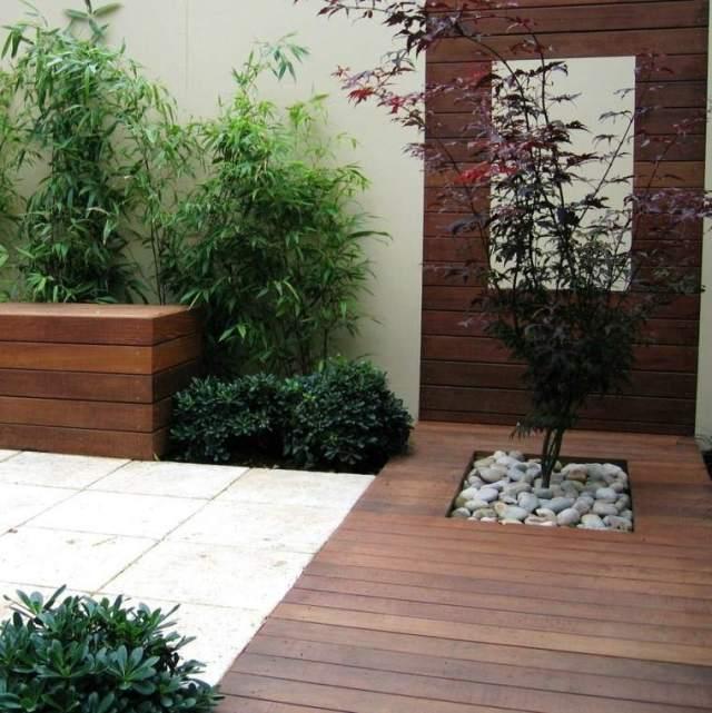camino madera teca jardin zen
