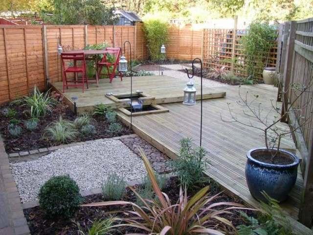 jardin pequeño decorado piedras
