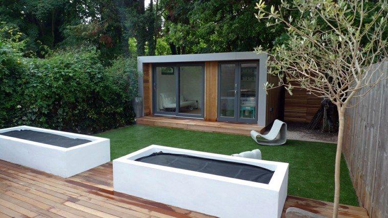 jardin pequeo diseo moderno madera