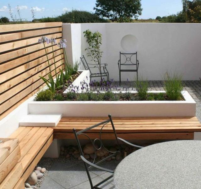 patio terraza estilo moderno madera