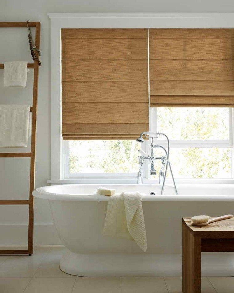 blanco madera persiana diseño baño