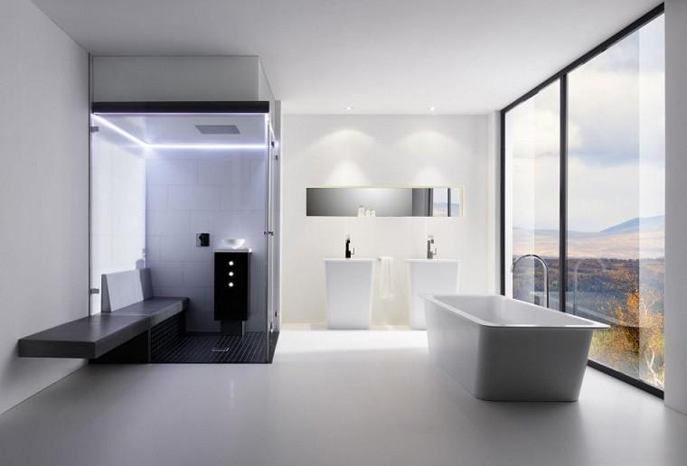 bonito diseño cuarto baño futurista