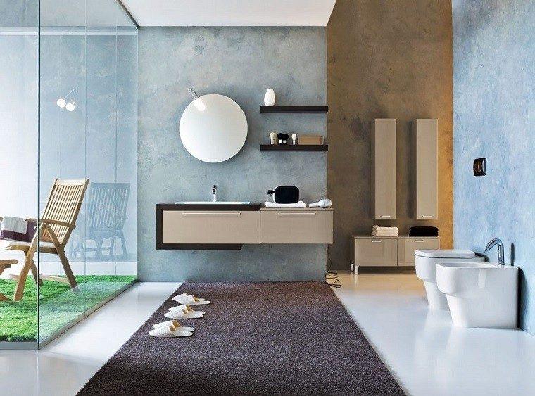 diseño cuarto baño pared acuario