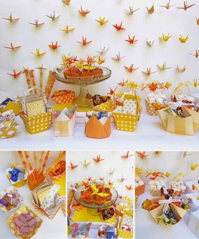adornos papel para dulces pared