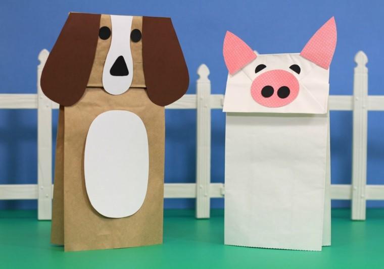 bolsas papel animales granja