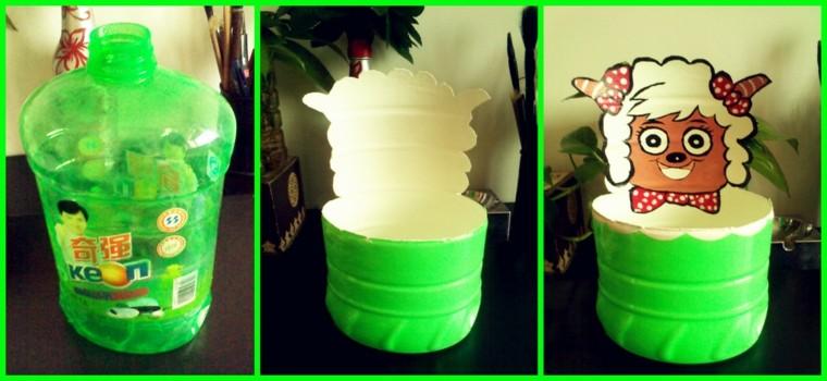 botella plastico color verde recortada