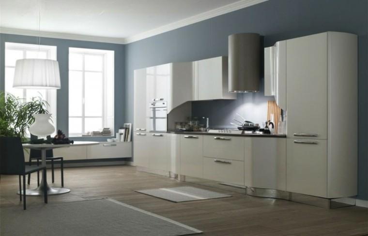 color de pared para armarios grises Mejores Colores De La Pintura Gris Para Muebles De Cocina