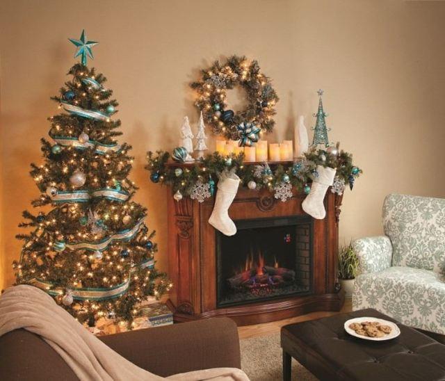 decoracion navidad calcetines blancos