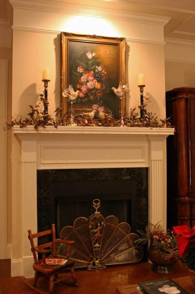 decoracion navidad palomas blancas