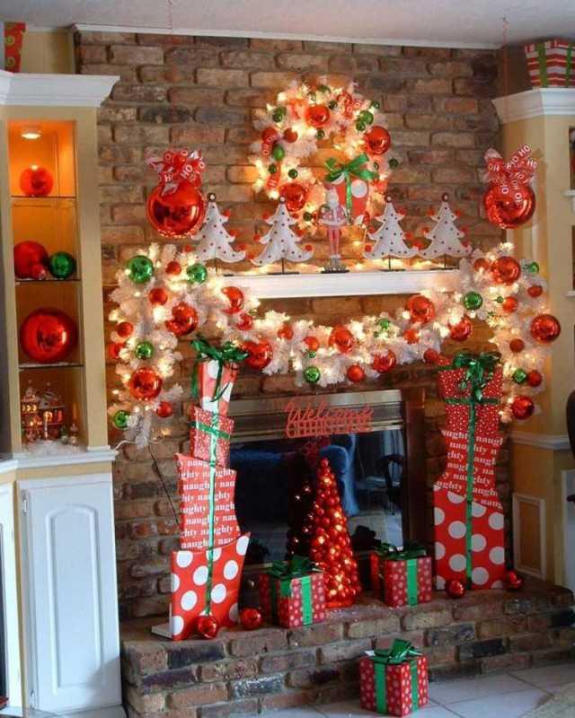 decorar chimeneas motivos navideños